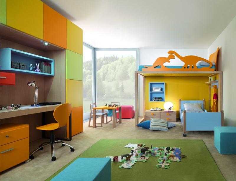 Kinderzimmer komplett Set Etagenbett Schreibtisch Schränke