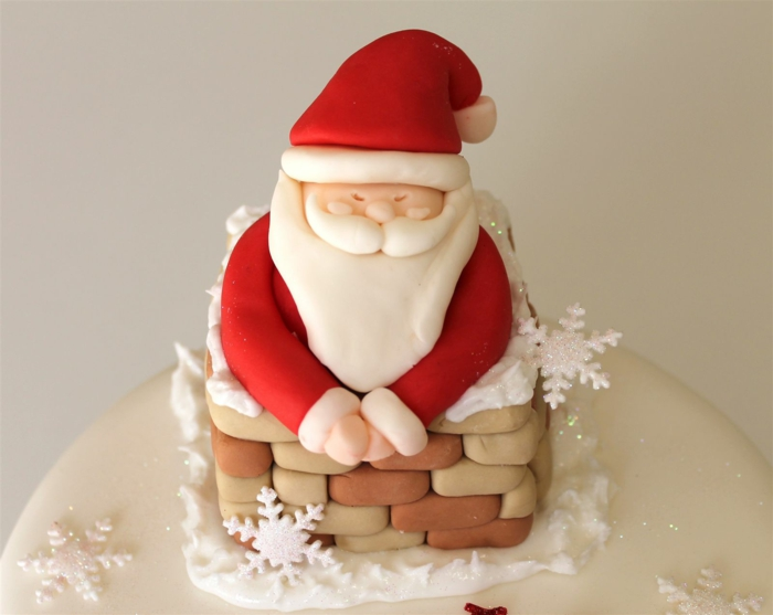 Nikolaus Basteln bastelideen weihnachten aus dem schornstein