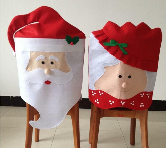 Nikolaus Basteln basteln weihnachten bastelideen weihnachten rückenlehne