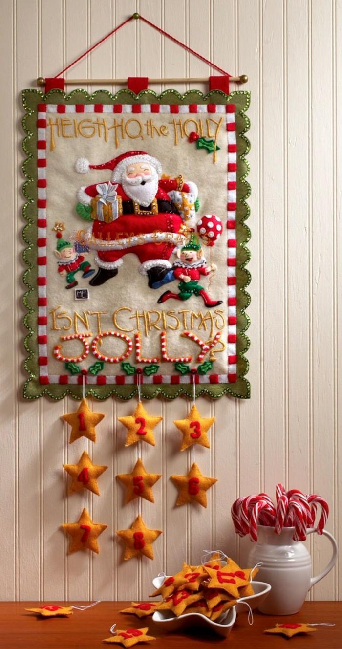 Nikolaus Basteln basteln weihnachten bestecktasche wand strickerei
