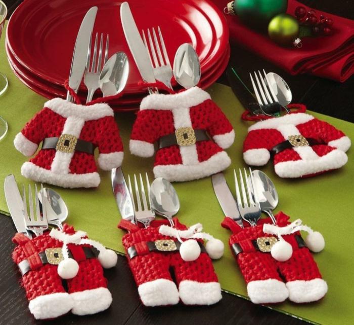 weihnachtsgeschenke basteln sekt besteck schoner