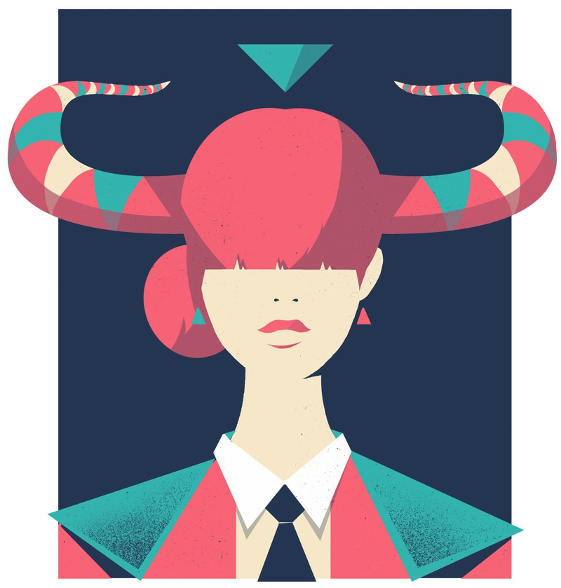 Pietari Post zodiac Illustrationen Stier Horoskop 2016