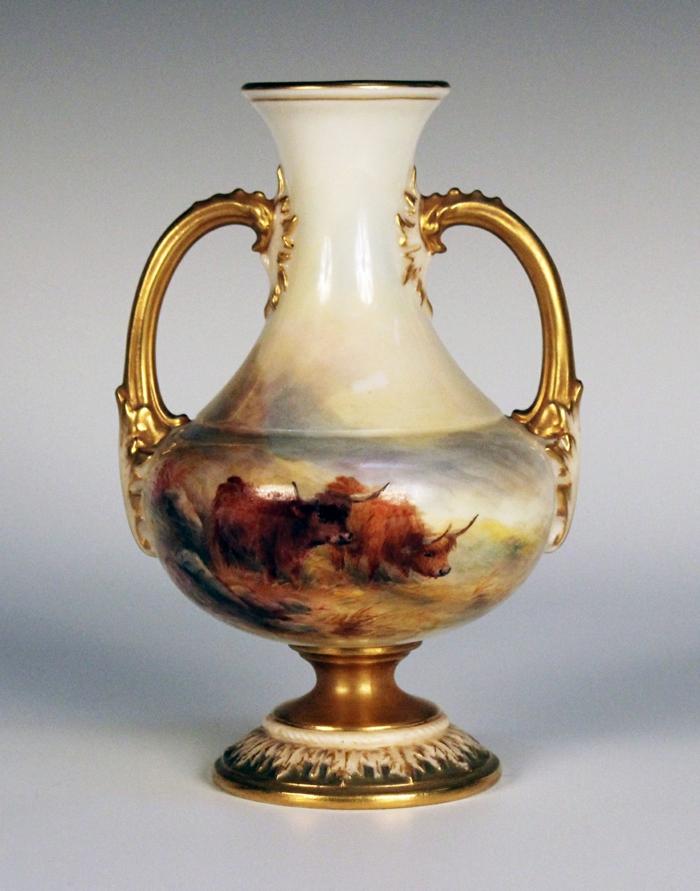 butterdose keramik Geschirr wohnaccsessoires vase mit büffeln
