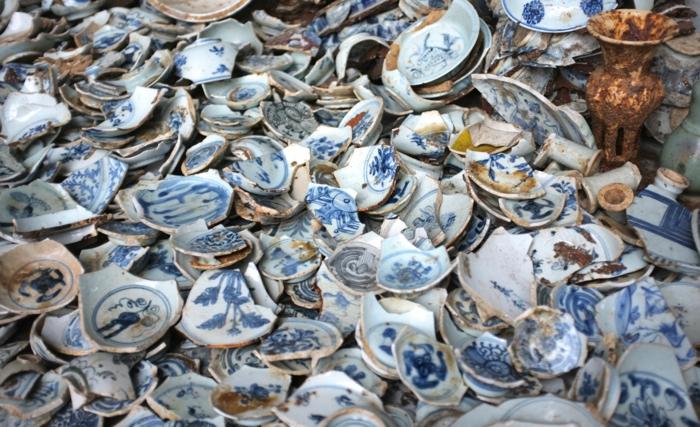 Porzellan Geschirr wohnaccsessoires zerbrochene porzellanstüche