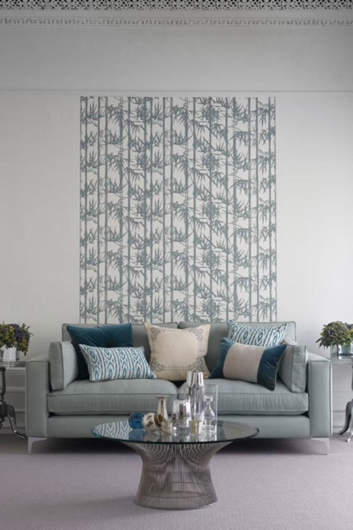 Raumgestaltung Ideen Wohnzimmer Farbgestaltung Grau