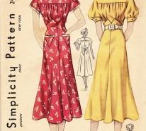 Vintage Kleider aus den verschiedenen Dekaden des 20. Jahrhunderts