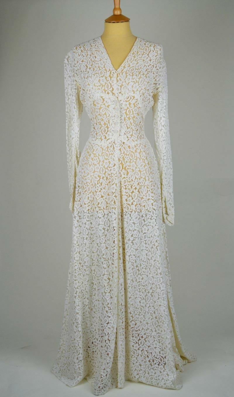 Vintage Kleider 30er Mode Vintage Hochzeitskleider bodenlang