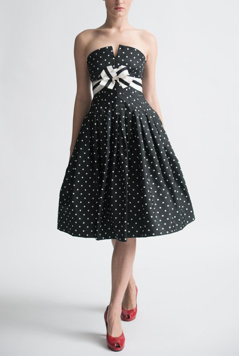 Vintage Kleider 50er Rockabilly Kleider schwarz weiß