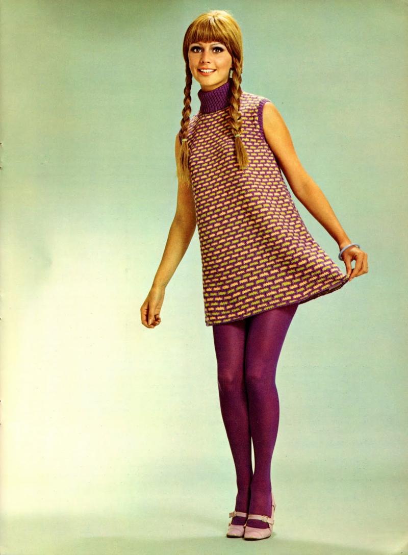 Vintage Mode Damen 60er Jahre Retro Minikleider