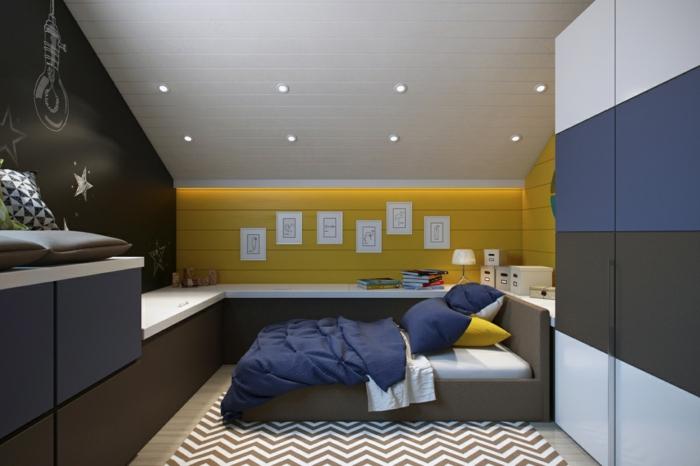 schlafzimmer ideen dachschräge: schlafzimmer unterm dach mit