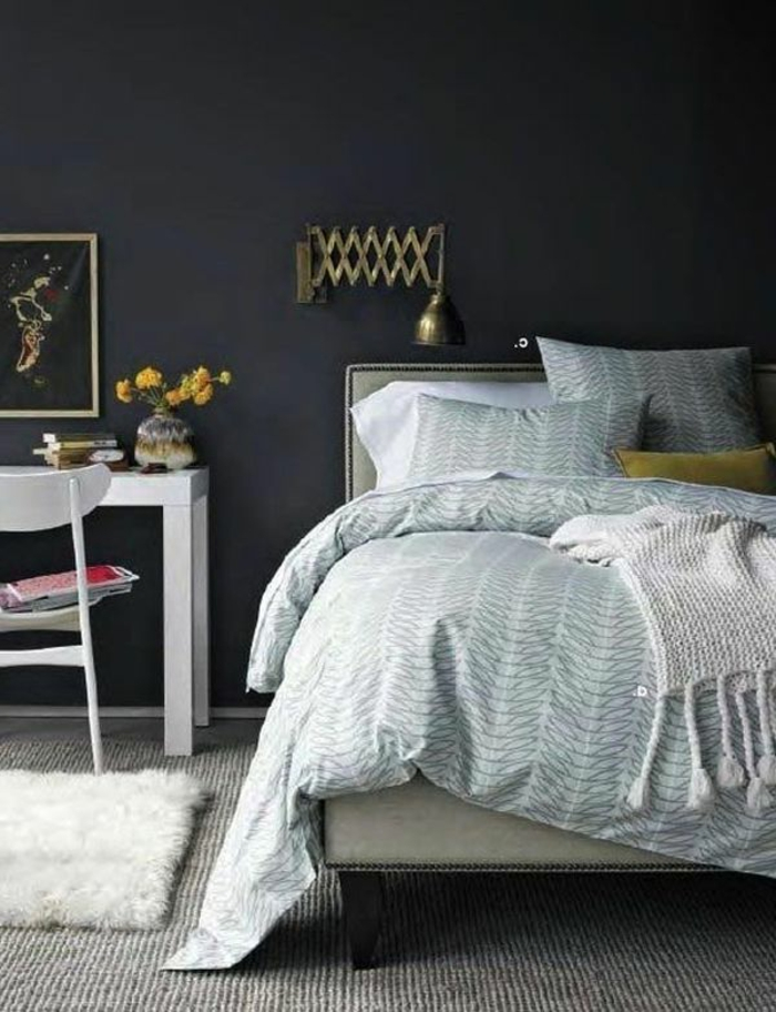 Wände streichen ideen schlafzimmer gestalten teppichboden