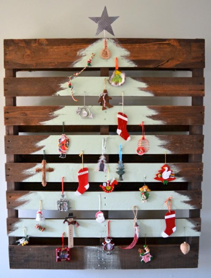 Weihnachtsbasteln Tannenbaum basteln Weihnachtsbaum aus Holzpaletten