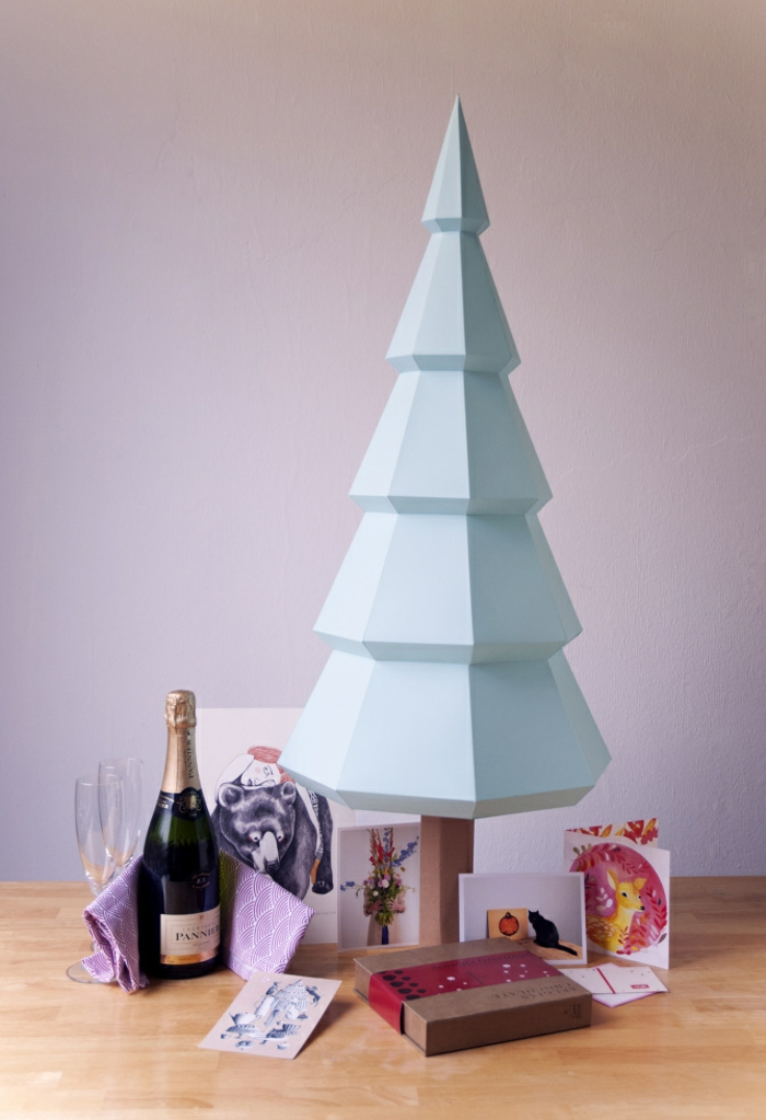 Weihnachtsbasteln Weihnachtsbaum selber basteln Bastelideen