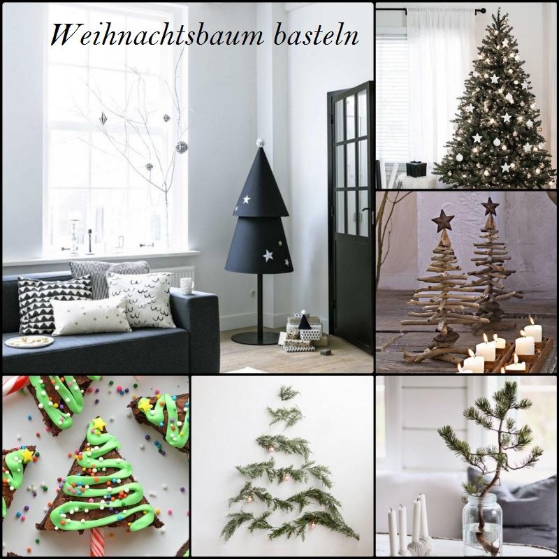 Weihnachtsbaum basteln Weihnachtsdeko Ideen weihnachtliches Basteln