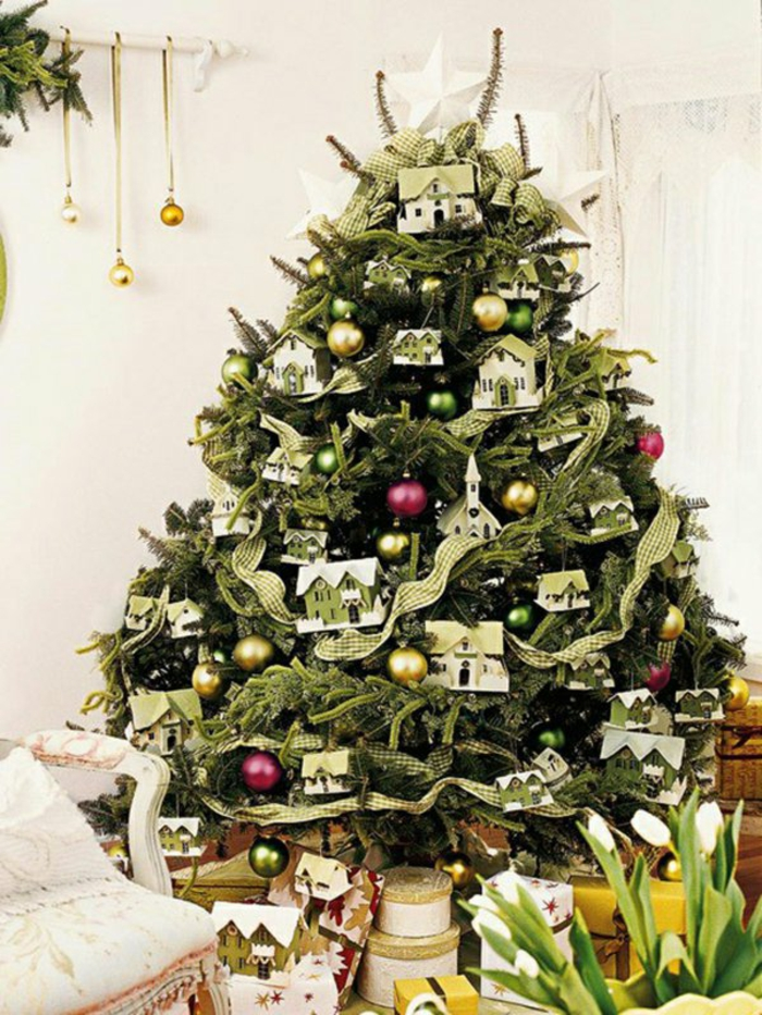 Weihnachtsdeko basteln Weihnachtsbaum Schmuck