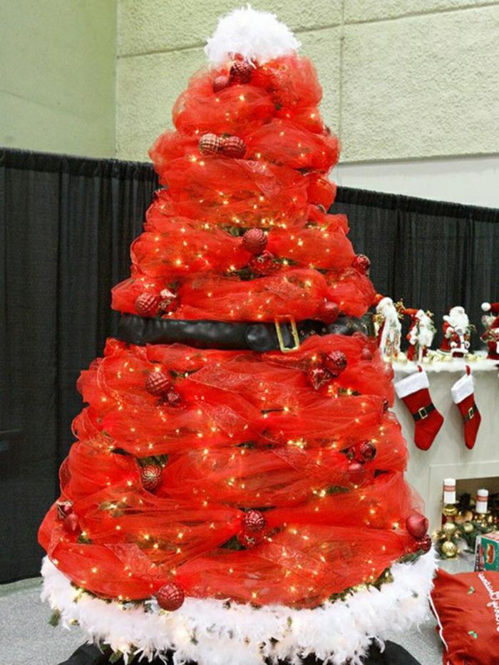 Weihnachtsdekoration Weihnachtsbaum basteln Weihnachtsmann