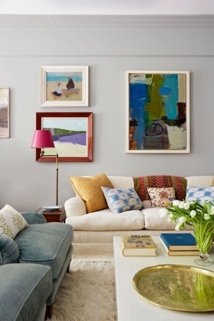Wohnraumgestaltung Ideen Wohnzimmer Wandgestaltung