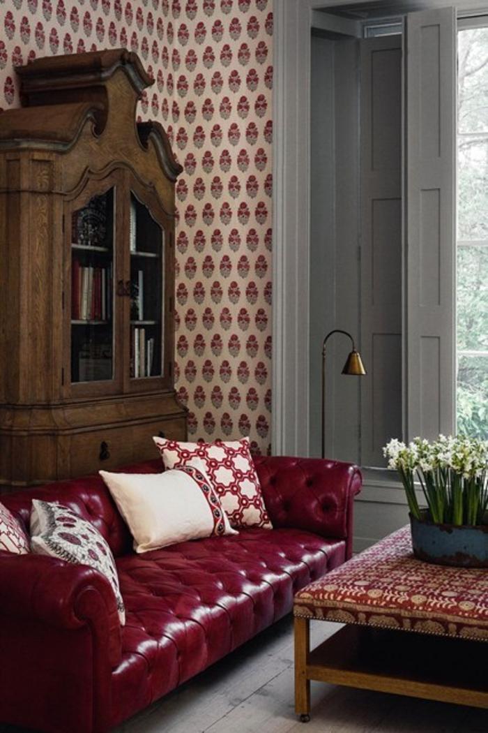 Wohnraumgestaltung Ideen modernes Wohnzimmer Ledermöbel