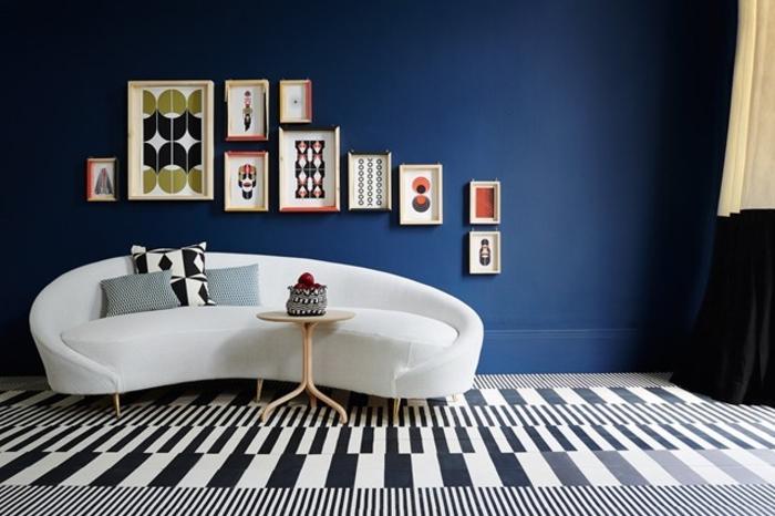 Wohnraumgestaltung Ideen modernes Wohnzimmer Sofa weiß