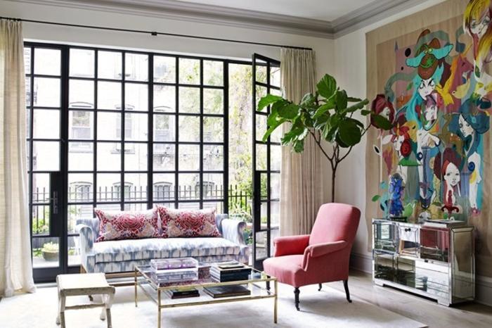 Wohnraumgestaltung helles Wohnzimmer gestalten Einrichtungsbeispiele