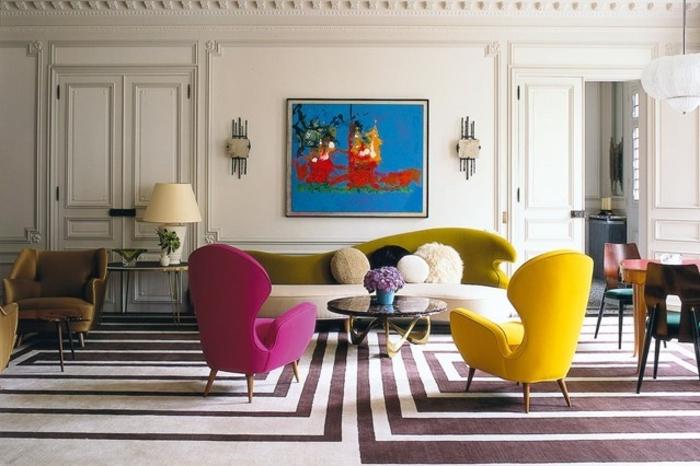 Wohnraumgestaltung mit Farbe Einrichtungsbeispiele