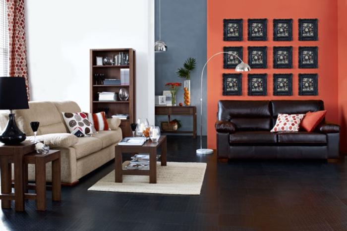 Wohnraumgestaltung mit Farbe modernes Wohnzimmer Einrichtungsbeispiele