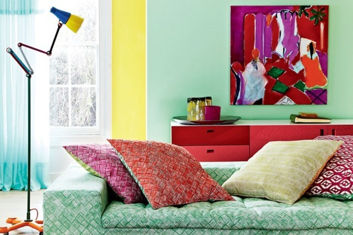 Wohnraumgestaltung mit Farbe modernes Wohnzimmer