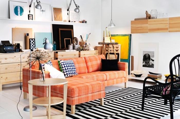 Wohnraumgestaltung modernes Wohnzimmer Ecksofa Einrichtungsbeispiele