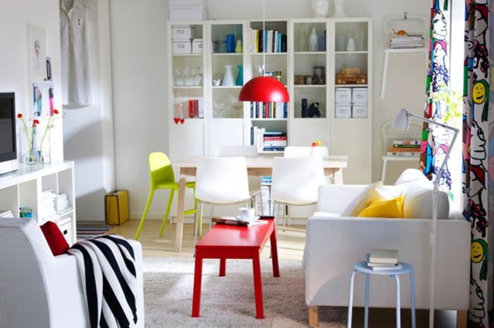 Wohnraumgestaltung modernes Wohnzimmer Möbel Wandregale