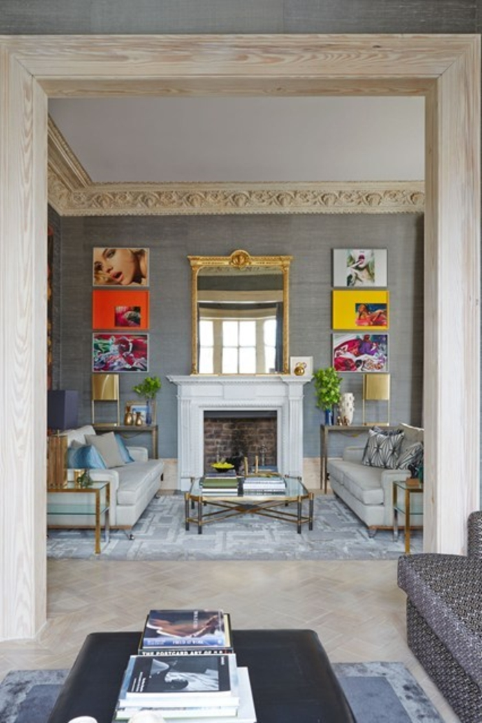 Wohnraumgestaltung modernes Wohnzimmer klassische Einrichtungsbeispiele