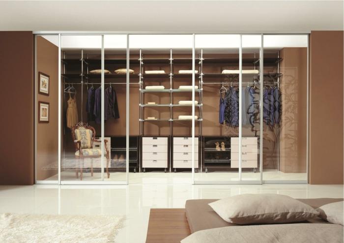 ankleidezimmer einrichten ankleide offener kleiderschrank