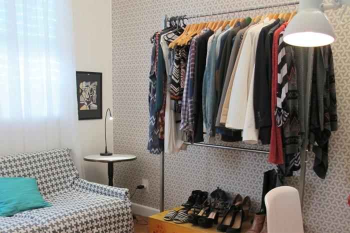 ankleidezimmer einrichten begehbarer kleiderschrank ideen
