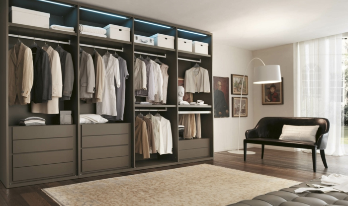 ankleidezimmer 60 ideen die f r ihr eigenes. Black Bedroom Furniture Sets. Home Design Ideas