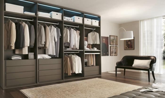ankleidezimmer möbel begehbarer kleiderschrank ideen ankleide