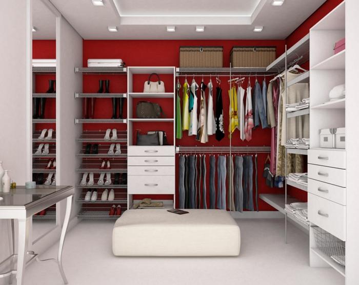 ankleidezimmer möbel offener kleiderschrank begehbarer kleiderschrank