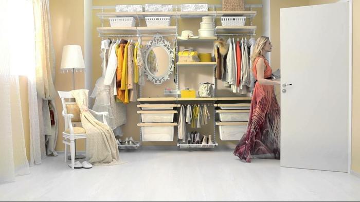 ankleidezimmer offener kleiderschrank begehbarer kleiderschrank