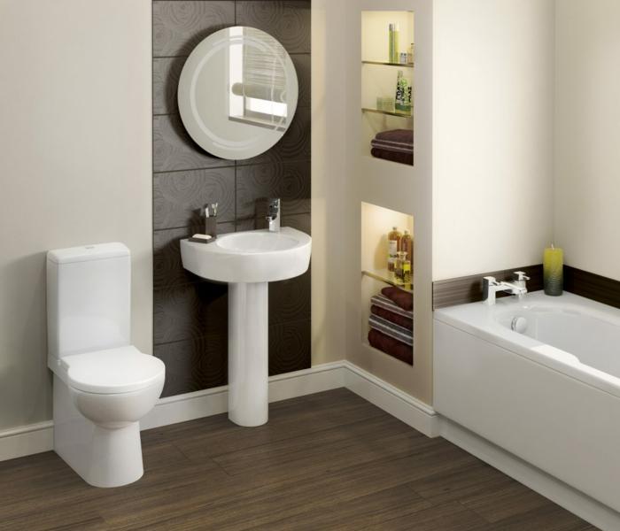 badezimmer gestalten feng shui weiße badmöbel badspiegel