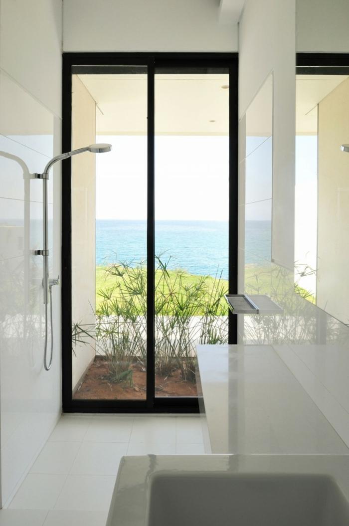 badezimmer gestalten fenster dusche weißes bad