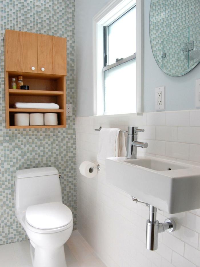 badezimmer gestalten schränke badfliesen fenster