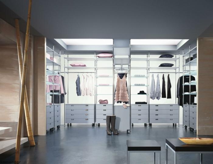 begehbarer kleiderschrank ideen ankleide ankleidezimmer einrichten