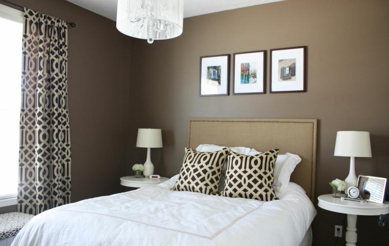 beste schlafzimmer wandfarben brauntöne wandfarben trends