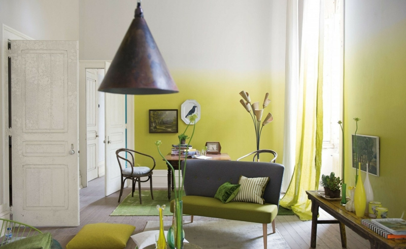 beste wandfarbe aussuchen frische wandfarben ideen ombre effekt