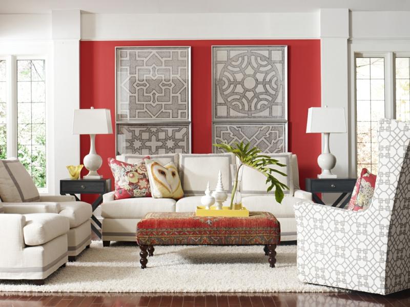 beste wandfarbe rot weiß schöne wandfarben ideen orientalische akzente