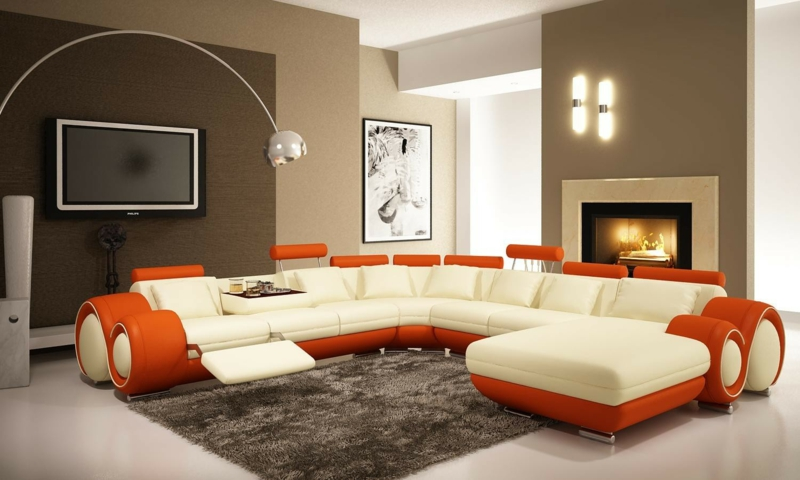 Wohnzimmer gestalten braune möbel  Braune Wandfarbe: Entdecken Sie die harmonische Wirkung der Brauntöne