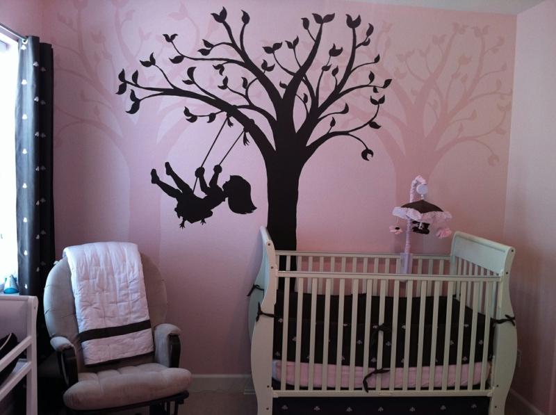 Charmant Braune Wandfarbe Kinderzimmer Braun Rosa Wandgestaltung Mit Farbe