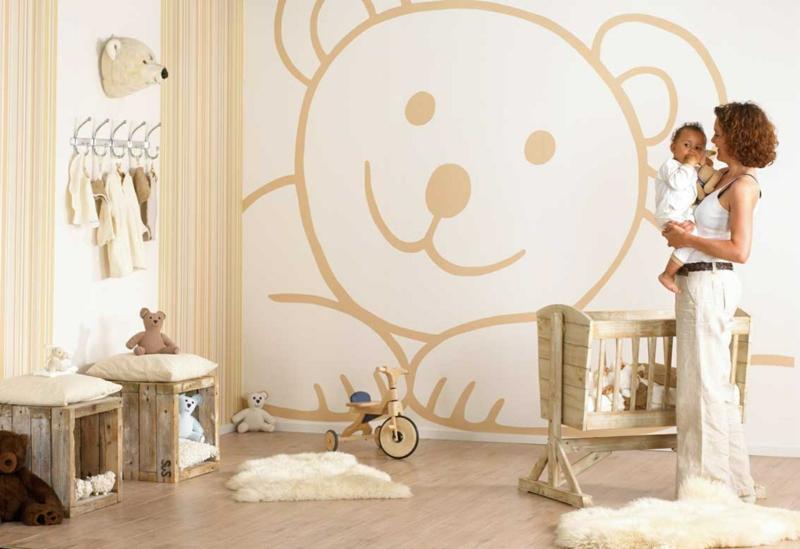 braune Wandfarbe Wände streichen Kinderzimmer