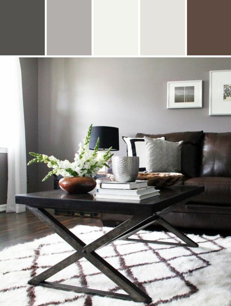 braune Wandfarbe Wände streichen welche Farben passen zusammen