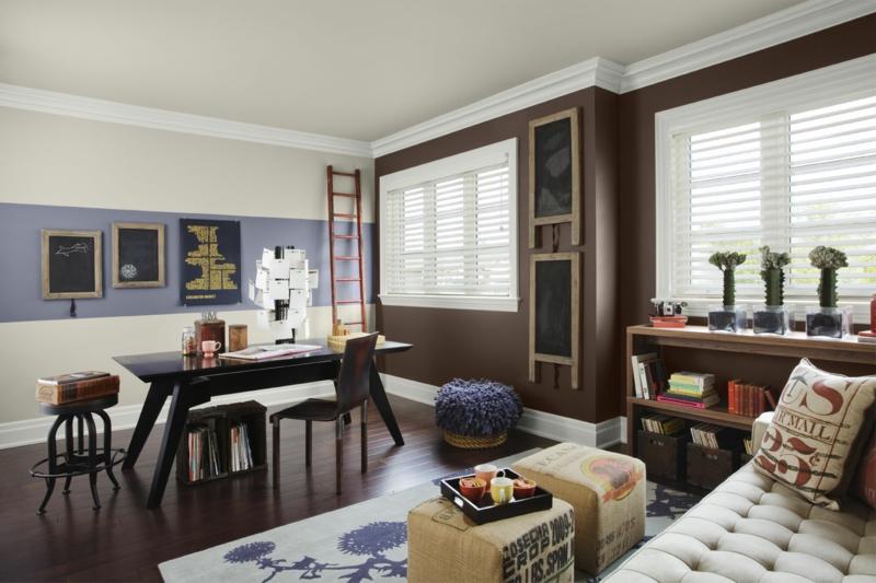 Braune Wandfarbe Wandgestaltung Mit Farbe Braun Beige Lila