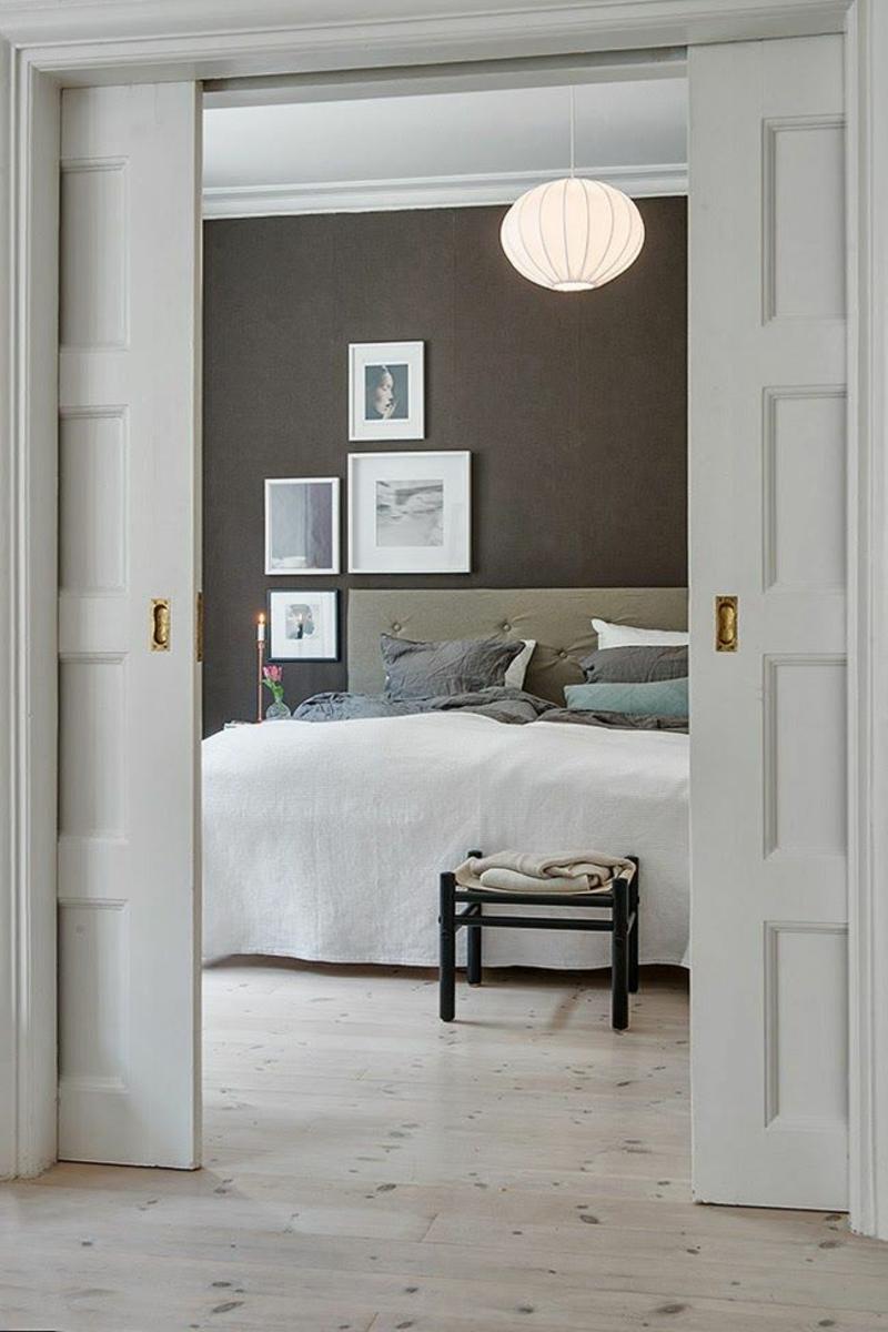 Braune Wandfarbe Wandgestaltung Mit Farbe Schlafzimmer