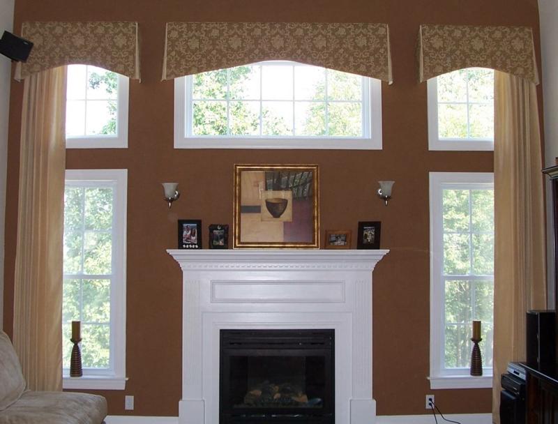 braune Wandfarbe Wohnzimmer Wände streichen Wandgestaltung mit Farbe